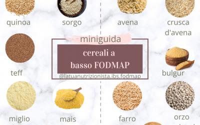 12 pseudo-cereali a basso contenuto di FODMAP